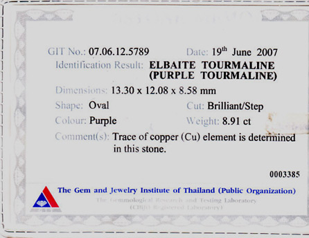 certed cuprian purple mozambique tourmaline