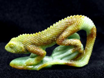 published sculpted jade lizard