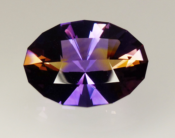 oval checkerboard ametrine