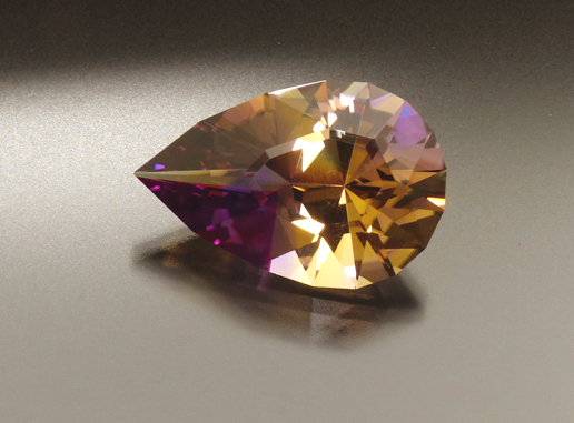 pear shaped ametrine