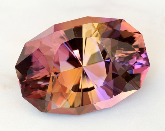 U.S. faceted blended ametrine