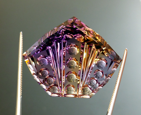 fancy ametrine with optical dishes