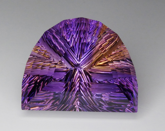 concave faceted ametrine