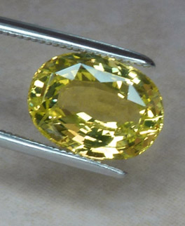 bright greenish-yellow chrysoberyl