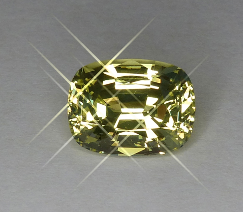 4+ct glowing light medium yellow chrysoberyl