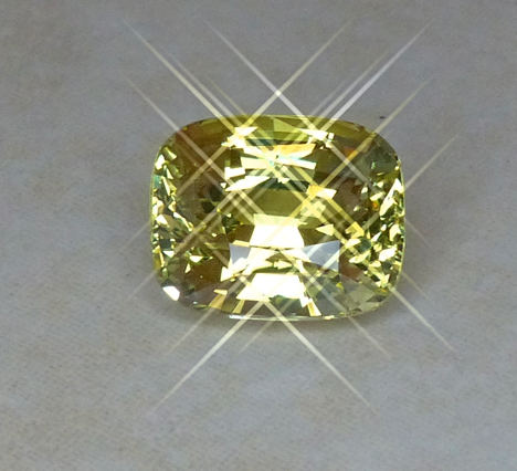 fine 4.33ct chrysoberyl cushion