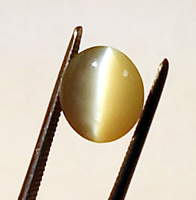 natural cat's eye chrysoberyl