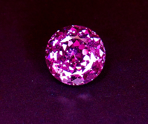7mm portuguese round purple garnet