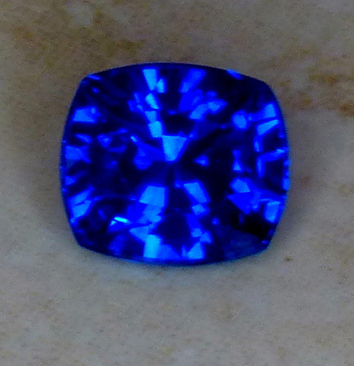 deep glowing blue certed sapphire