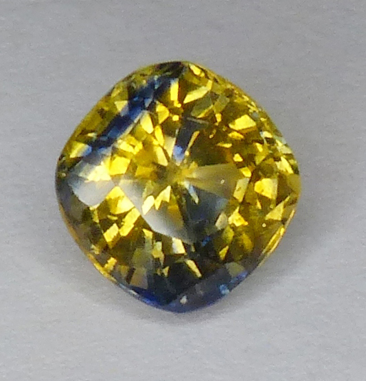 fancy sapphire with yellow body and blue sections