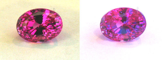certed pink orangy pink sapphire