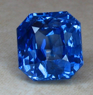 sapphire halo ring real index b jewelry amazing blue color cushion loose cut