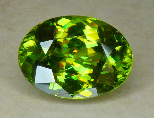 wonderful bright yellow green sphene from madagascar