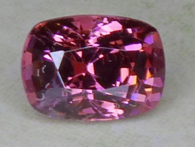 purplish pink burmese spinel