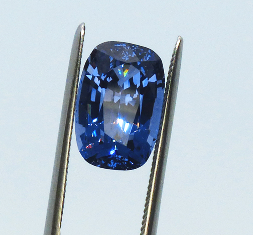 large purple blue spinel