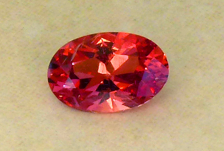 uniquely colored neon orange mahenge spinel