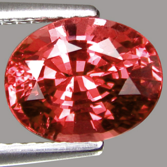 pad colored spinel; orangy pink spinel