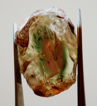 oregon watermelon sunstone with schiller - rough