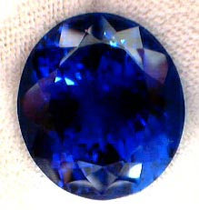 certed 24.97ct Deep Blue Natural Tanzanite