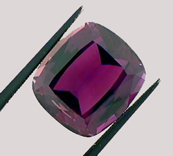 plum colored tourmaline