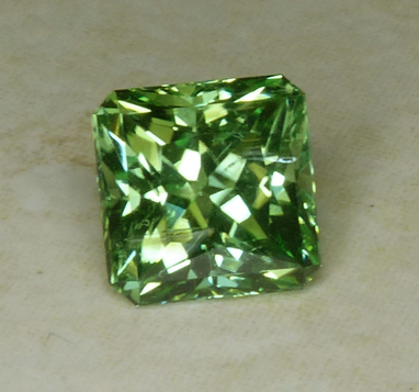 neon green US faceted tourmaline