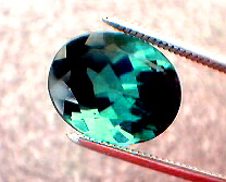 incredible green blue tourmaline