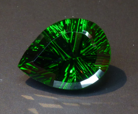 large concave cut chrome tourmaline