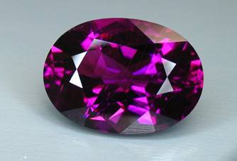 published purple mozambique tourmaline recut by our master cutter