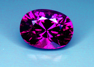 purple mozambique tourmaline recut by our master cutter