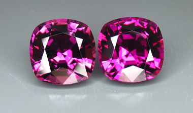 purple mozambique tourmaline MATCHED PAIR