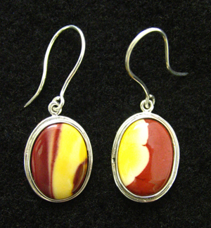 mookaite sterling earrings
