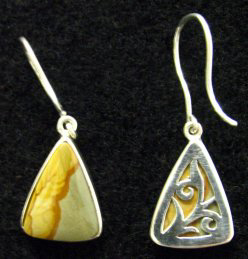custom owyhee jasper sterling earrings