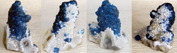quartz with blue fluorite - mongolia