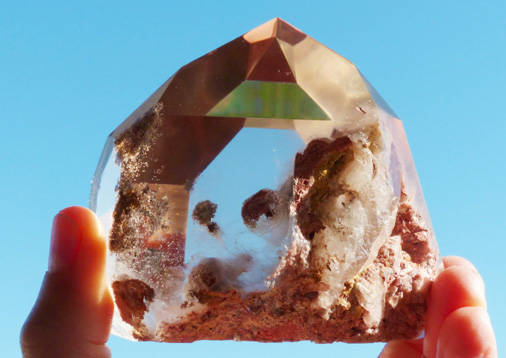 quartz crystal with beautiful inclusions