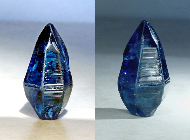 natural blue sapphire crystal from Sri Lanka