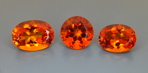 published neon orange citrine