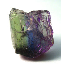 published bicolor tanzanite rough