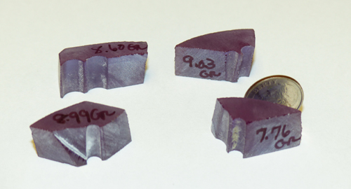 synthetic alexandrite rough