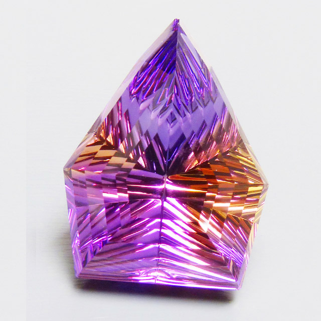 concave grooved ametrine shield